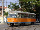 An old-style tram in Sofia